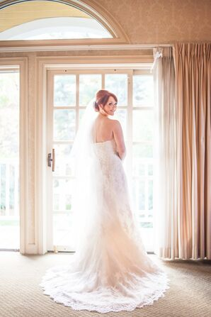 Ivory Lace A-Line Wedding Dress