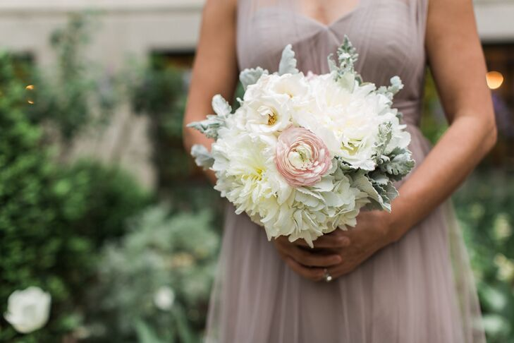 White Peonies and Hydrangeas Bouquet