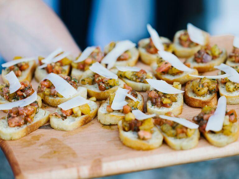 Vegetarian Wedding Menu Bruschetta