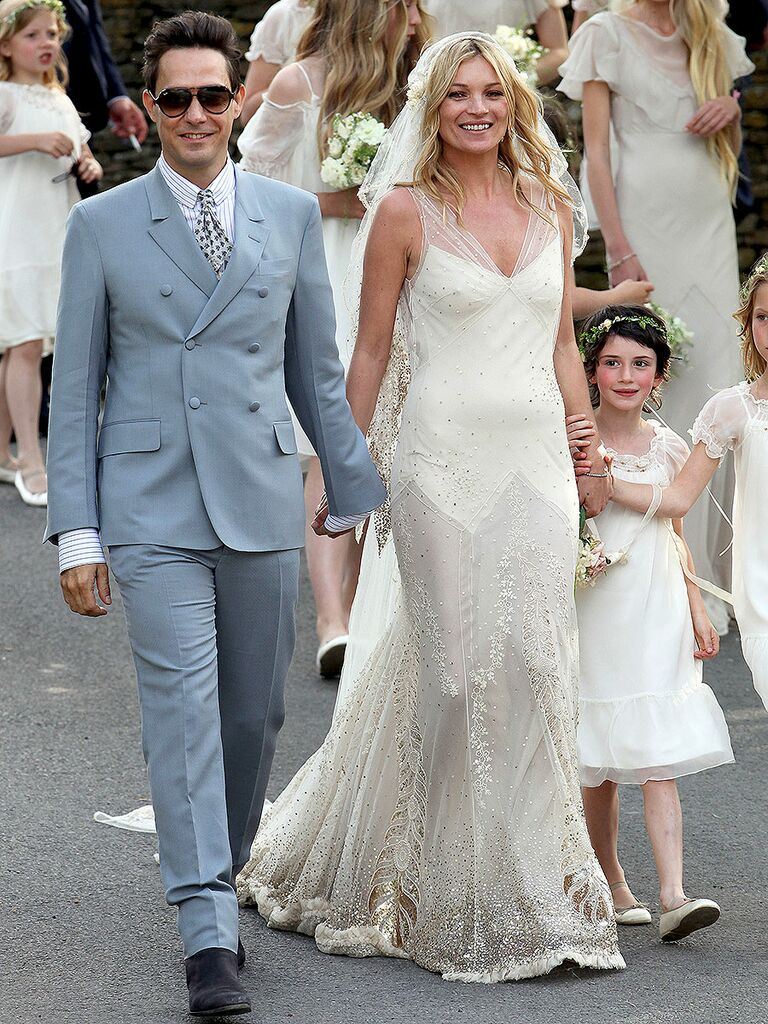 The 54 Best Celebrity Wedding Dresses Of All Time,Fitted Simple Wedding Dress Ideas