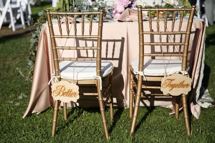 Rustic Wooden 'Better Together' Chair Decor