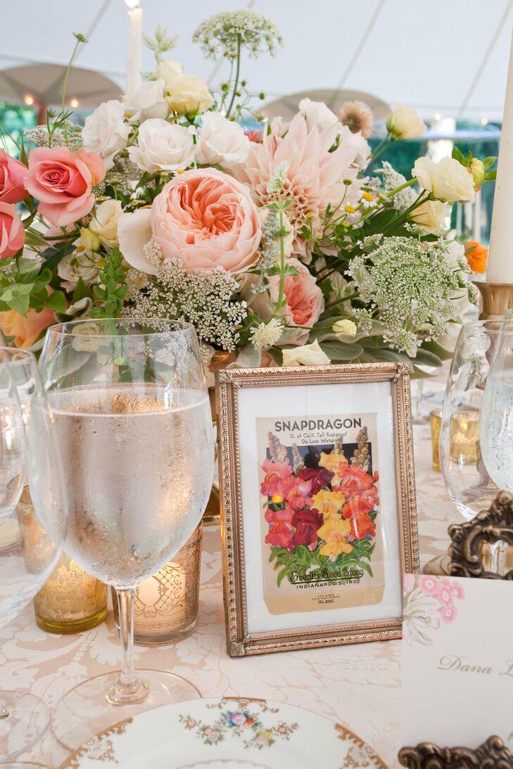 Vintage Flower Table Names