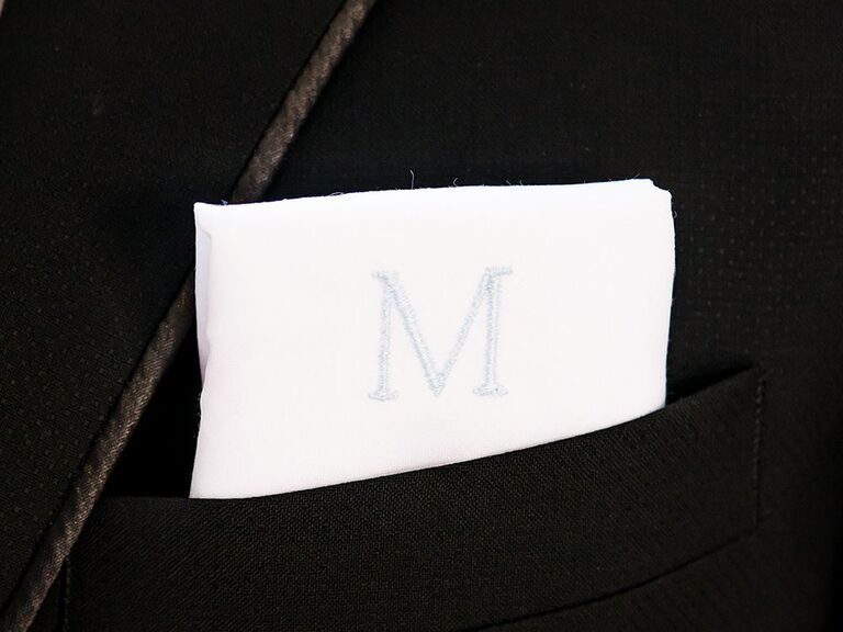 A custom-embroidered handkerchief