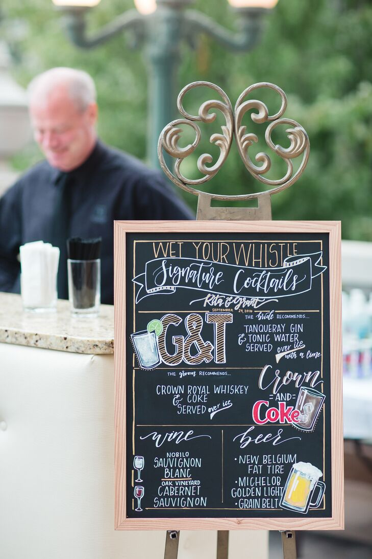 Hand-Lettered Chalkboard Cocktail Menu