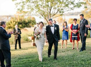 """A serene hilltop setting took center stage at the wedding of Alicia Stepp (41 and a photographer) and Allan Tait (47 and a database developer). """"Allan"""