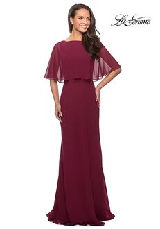 La Femme Evening 25204 Red Mother Of The Bride Dress