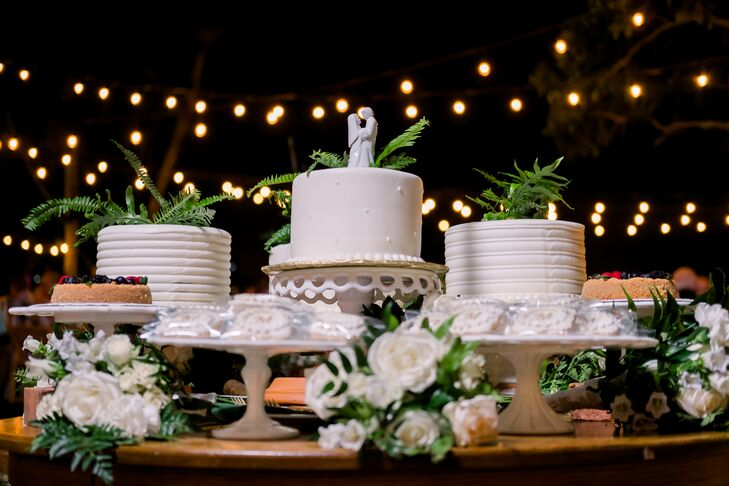 Dessert Table with Round Single-Tiered Cakes