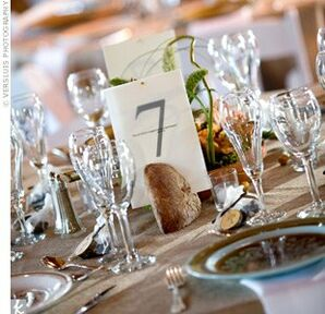 French Bread Table Number Holders