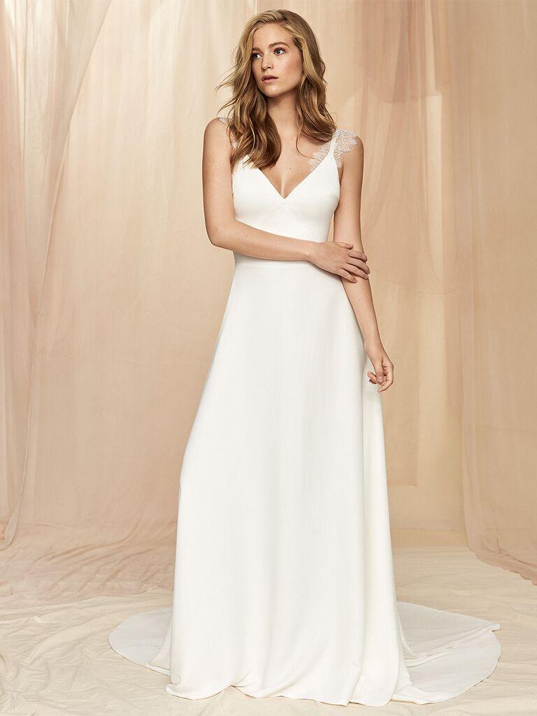 Savannah Miller A-line dress with lace straps