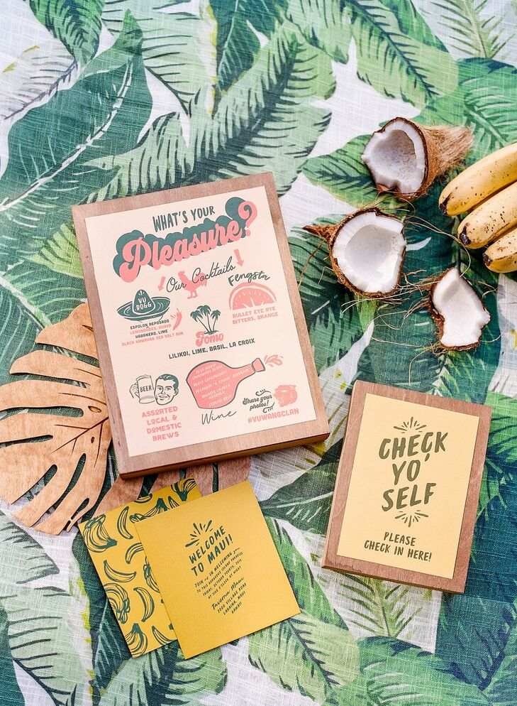 Retro Stationery for Welcome Party in Hawaii