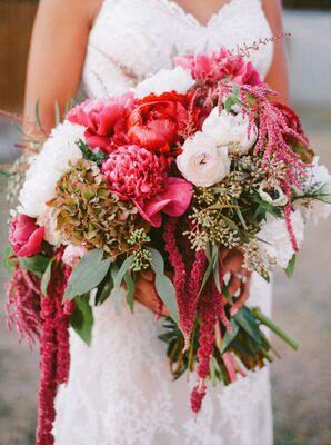 Rustic, Red Blossom Bouquet