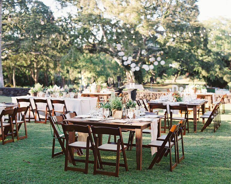 outdoor reception ideas rustic