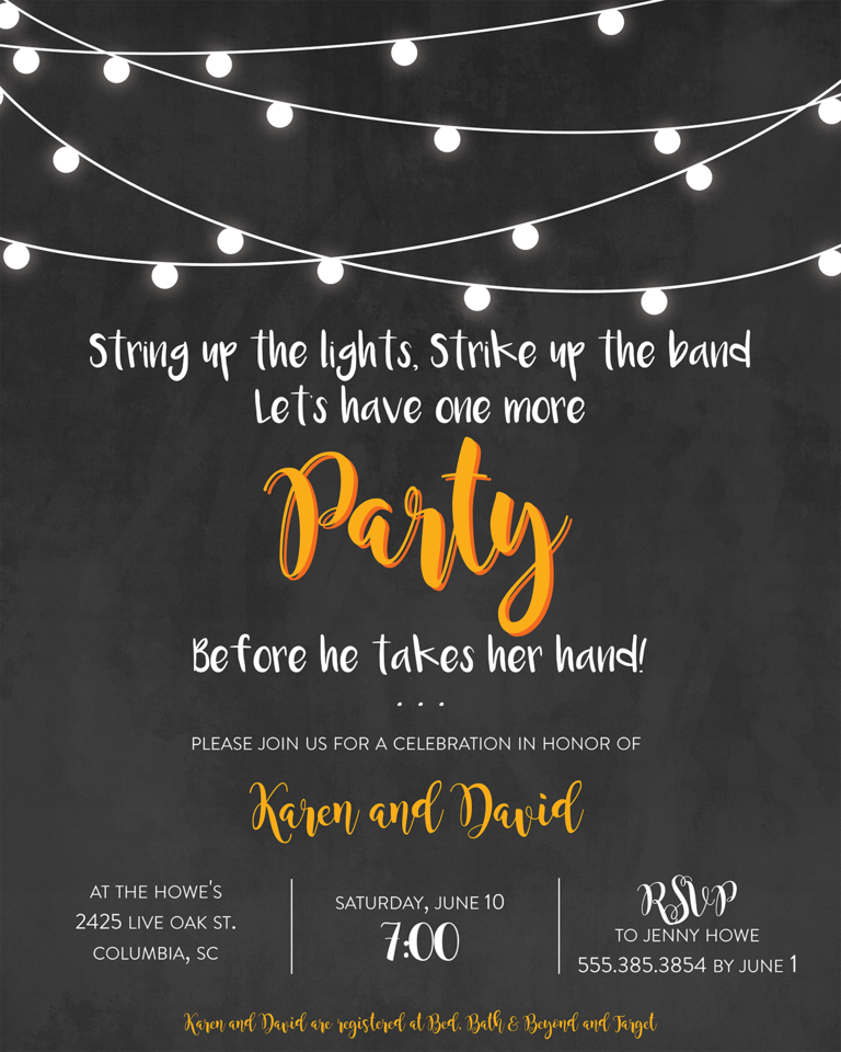 funny wedding shower invitation wording