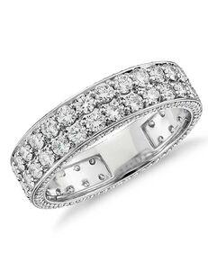 Platinum Jewelry Blue Nile Studio Tres Jolie Diamond Eternity Ring in Platinum Platinum Wedding Ring