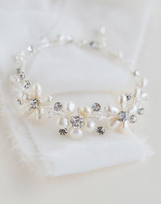 Dareth Colburn Abbey Freshwater Pearl Bracelet (JB-4869) Wedding Bracelets photo
