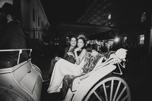 Bride and Groom's Carriage Exit
