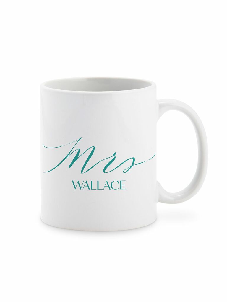 Custom Mrs. mug cute Valentine's Day gift for her
