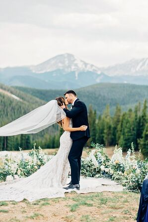 First Kiss at Mountain Ceremony