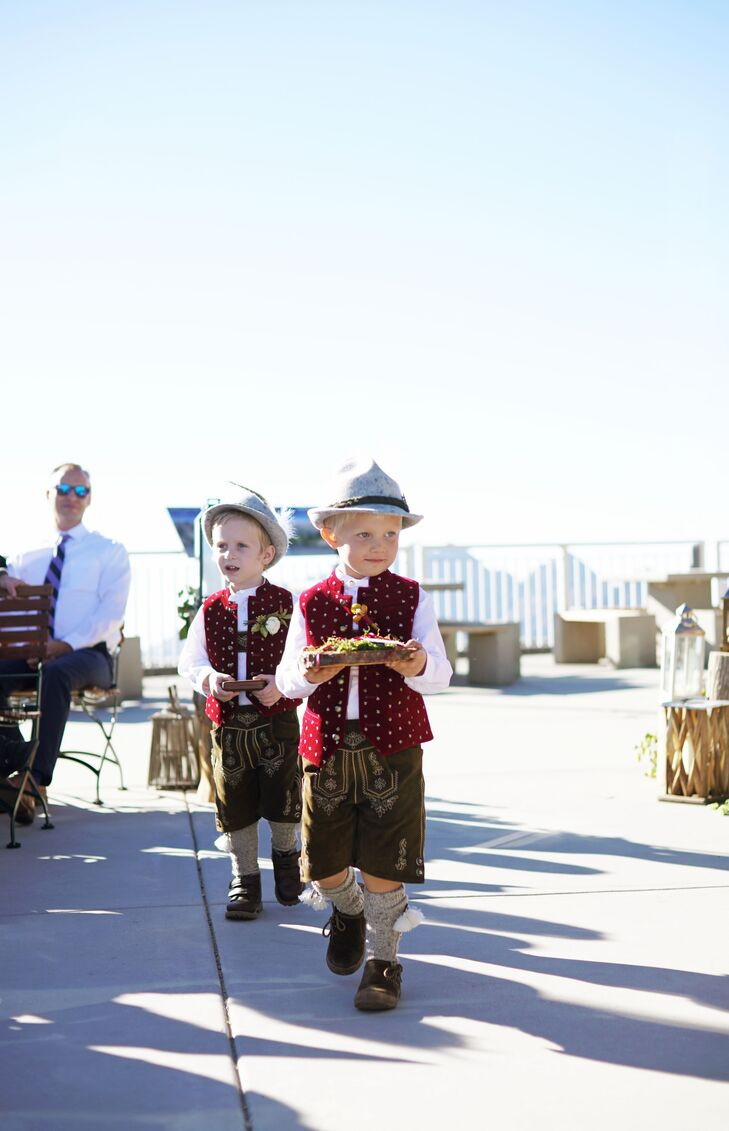 Ring Bearers with German Wedding Attire