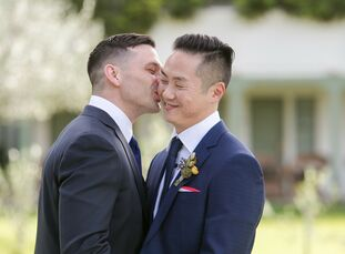 For their intimate wedding weekend, Andrew Dennis (37 and a business intelligence analyst) and Darrell Cheng (40 and a head of UX/UI design and develo