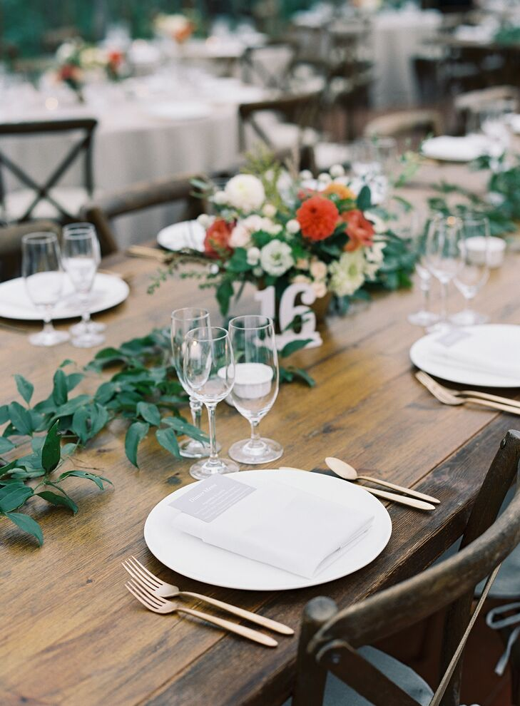 Rustic Place Settings for Wedding at The Clifton Inn in Charlottesville, Virginia