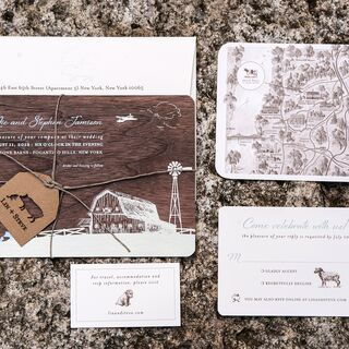 Real Rustic Wedding Invitations