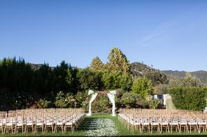 Neutral Toned Outdoor Ceremony