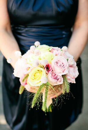 Pastel Pink and Yellow Bridesmaid Bouquet