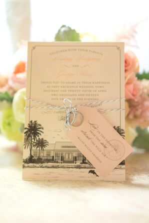 Neutral Captiva Island-Inspired Invitation