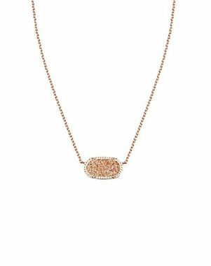Kendra Scott Elisa Necklace in Champagne Drusy Wedding Necklace photo