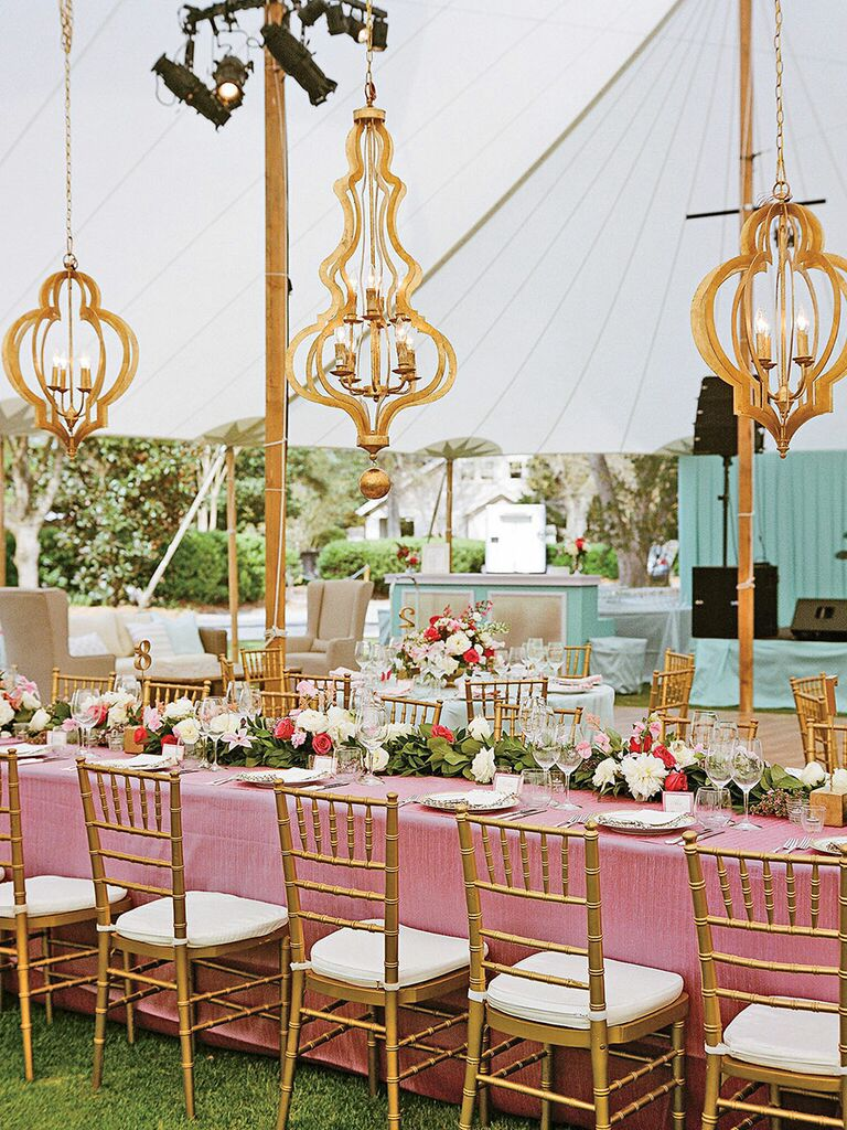 Outdoor elegant chandeliers gold
