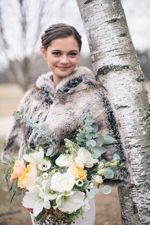 Fur Stole Wedding Dress Accessory