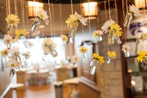 DIY Hanging Vases with Daisies