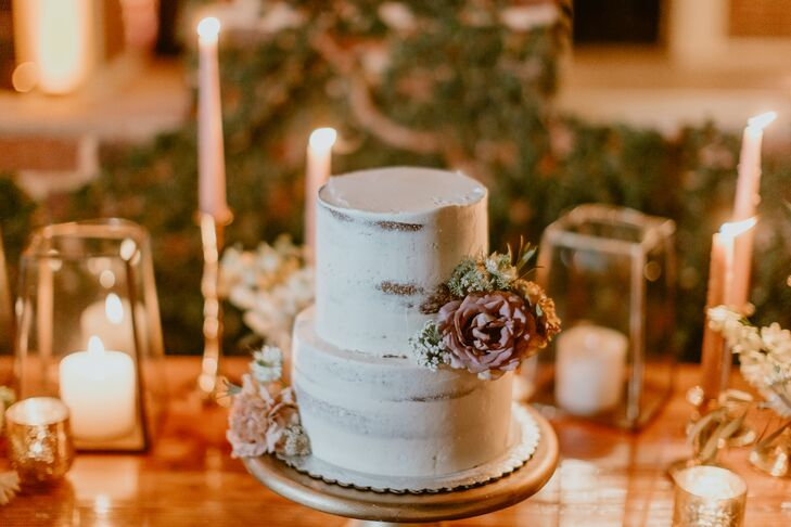 Round Naked Cake with Two Tiers