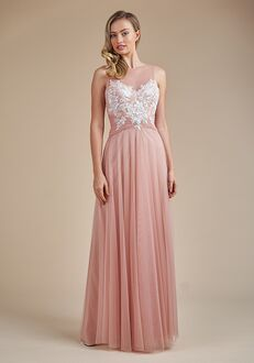 Belsoie Bridesmaids by Jasmine L224058 Illusion Bridesmaid Dress