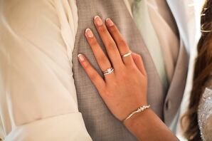Silver Wedding Rings and Bracelet