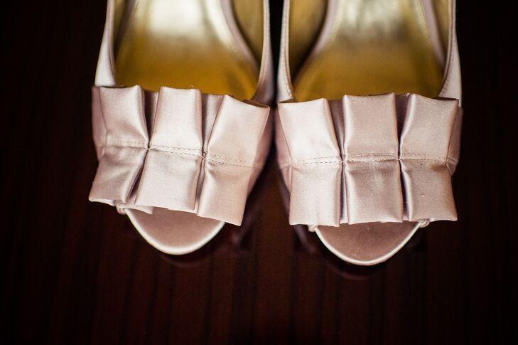 Blush Satin Nina Bridal Shoes