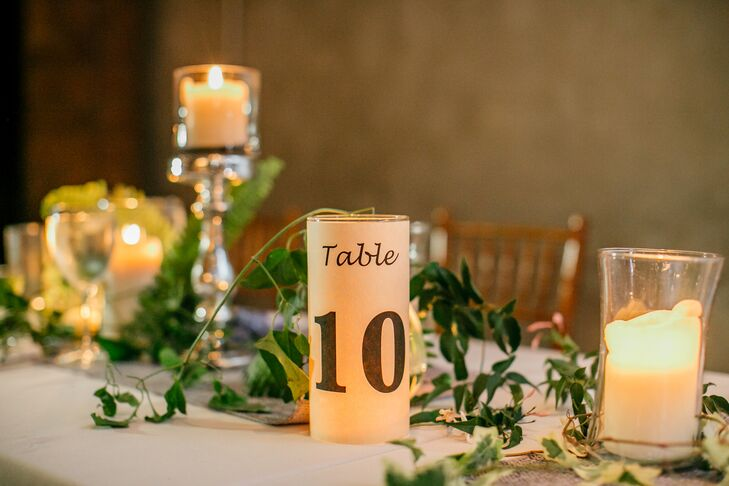 Pillar Candle Table Numbers