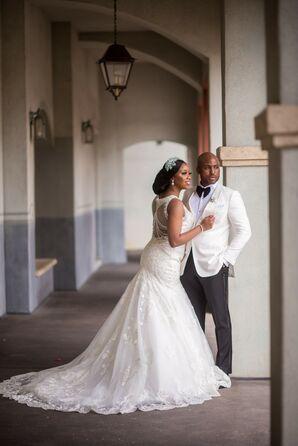 Bride and Groom Portraits at Portofino Bay Hotel in Orlando, Florida