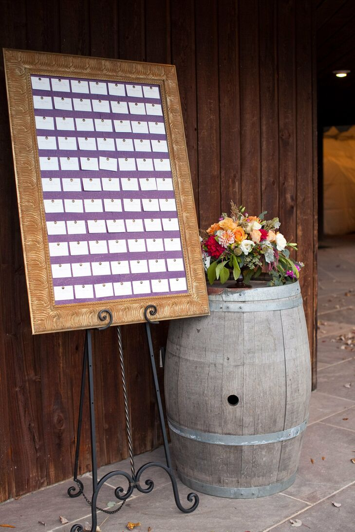 Framed Board for Escort Cards