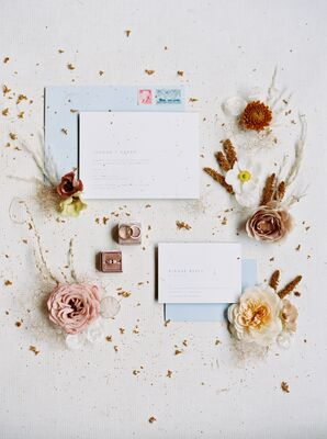 Elegant, Muted Wedding Invitations
