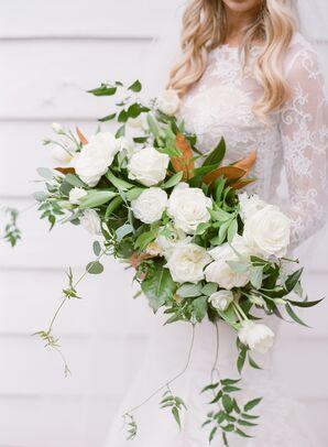 Cascading White Garden Rose Bouquet