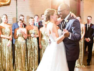 A couple's first dance on their wedding night.