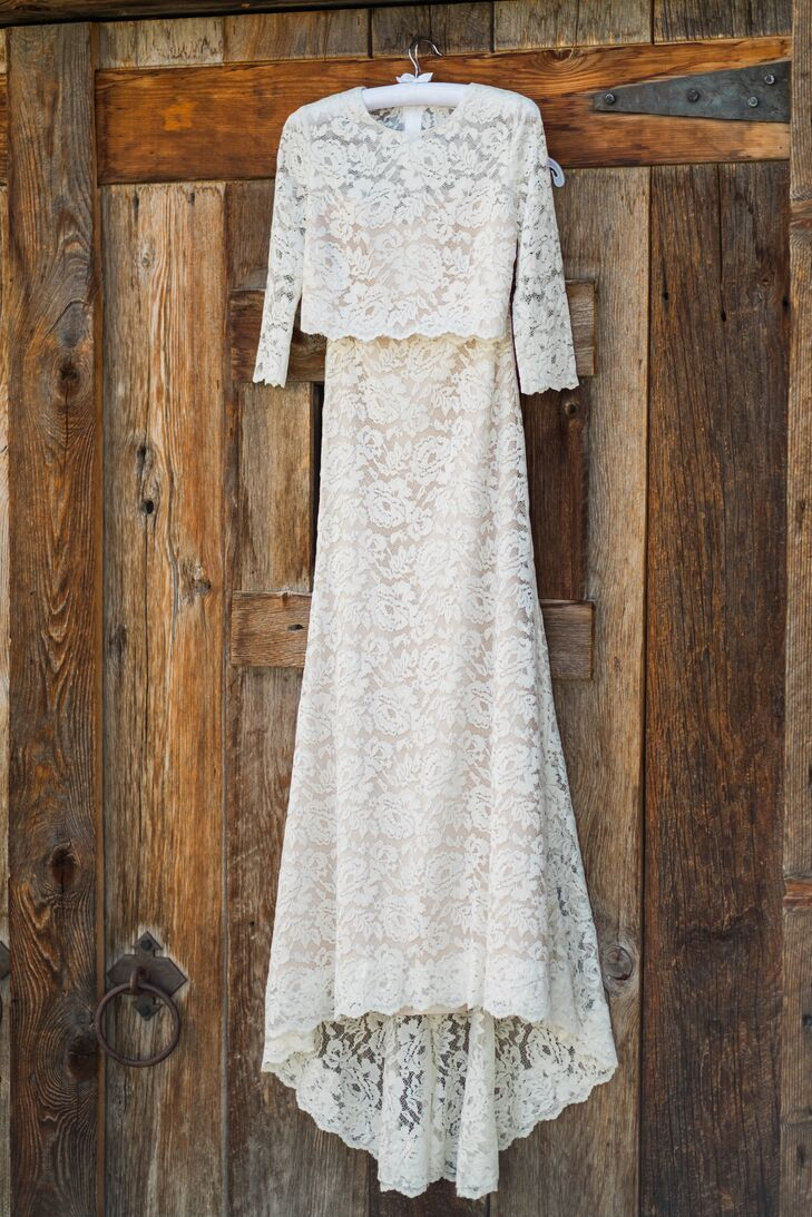 Two-Piece, Full-Length Lace Wedding Gown
