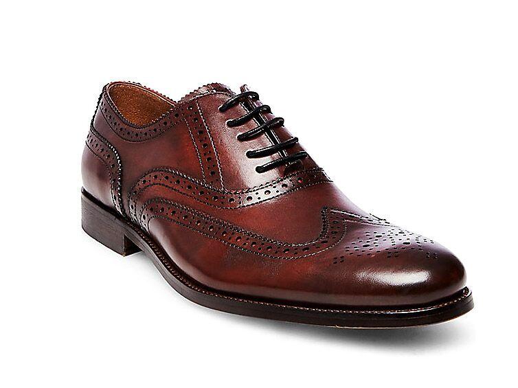Steve Madden Declan in Burgundy black suit brown shoes