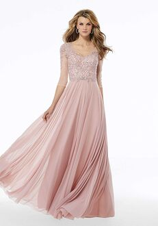 MGNY 72120 Pink Mother Of The Bride Dress
