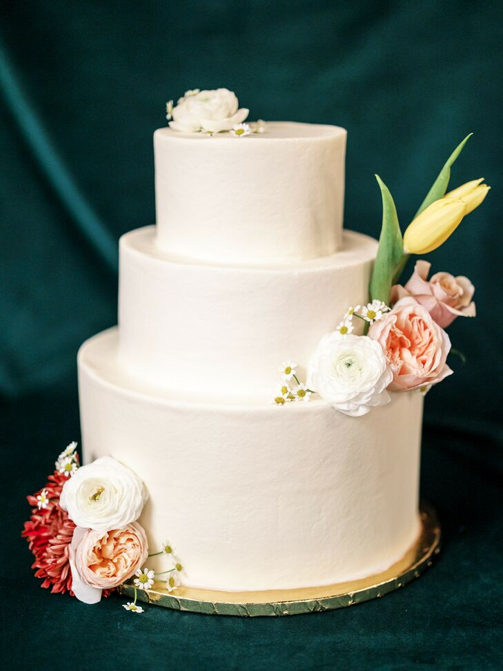 Simple Three-Tier White Cake at The Caramel Room in St. Louis, Missouri