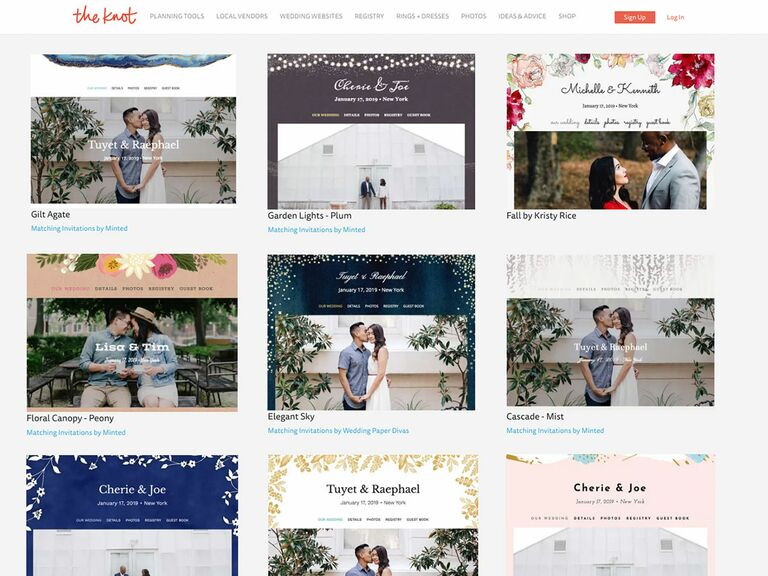 9 Best Wedding Website Builders to Use in 2019: Best Wedding