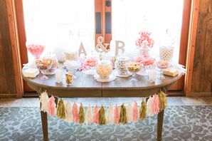 Ivory, Pink and Gold Dessert Table