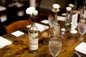 Whiskey Bottle Flower Vases
